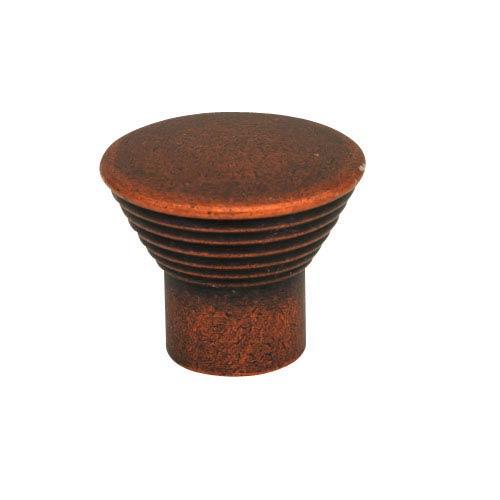 Antique Copper 1.125-Inch Ringed Cone Knob Tumbled