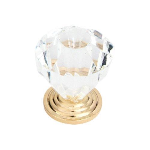 Clear 1.125-Inch Glass Knob
