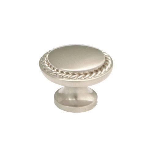Stainless Steel 1.25-Inch Roped Knob Solid