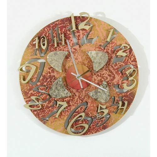 Mod Disk 1 Wall Clock by David Scherer