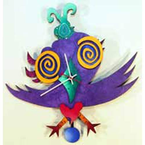 P. Birdie Wall Clock by David Scherer