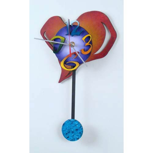 Small Heart Wall Clock by David Scherer