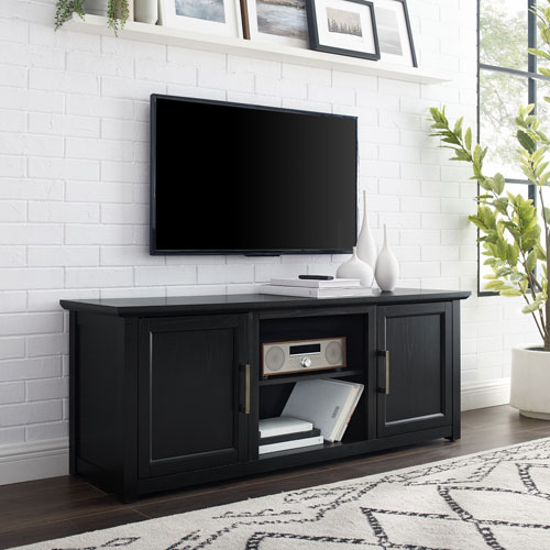 Camden Black 58-Inch Low Profile TV Stand