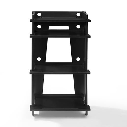 Soho Black Solid Hardwood and Veneer Turntable Stand