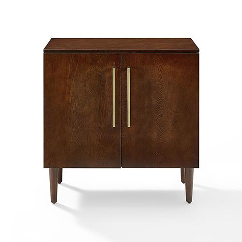 Everett Mahogany Fiber Board and Birch Veneer Console Cabinet