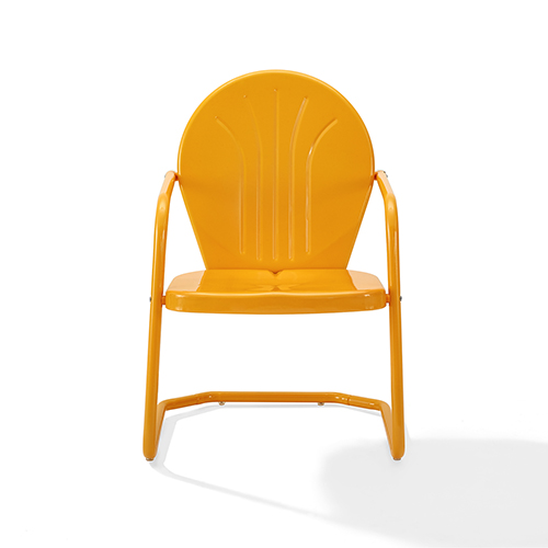 Griffith Tangerine Steel Outdoor Chair
