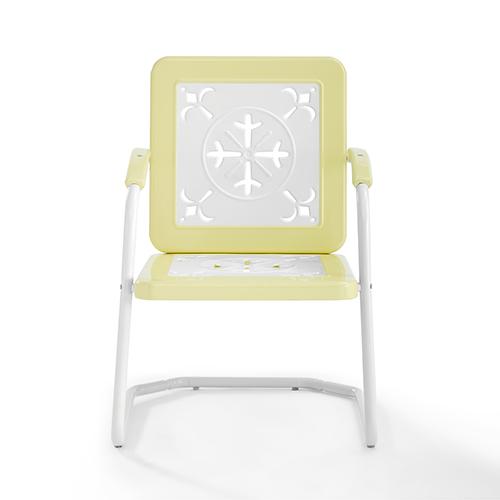 Azalea Yellow Metal Outdoor Chair