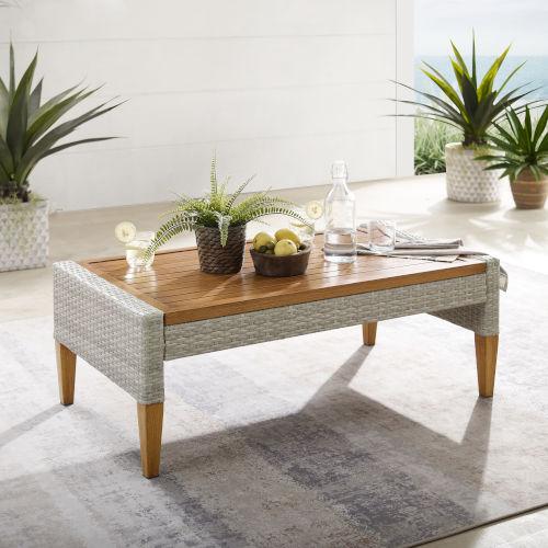 Capella Gray Outdoor Wicker Coffee Table