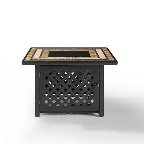 Tucson Brown 40-Inch Fire Table