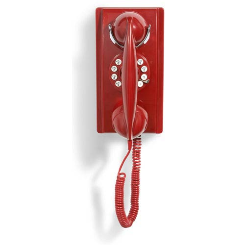 Red Wall Phone