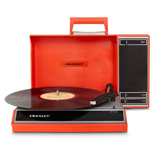 Spinnerette Portable USB Turntable, Red