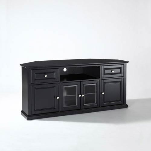 Crosley Furniture 60 Inch Corner Tv Stand In Black Cf1000260 Bk