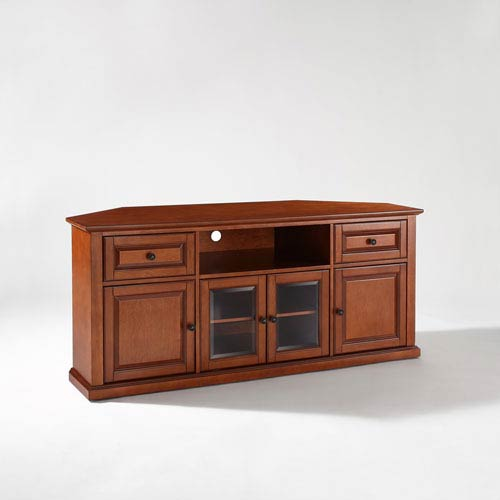 Crosley Furniture 60 Inch Corner Tv Stand In Classic Cherry