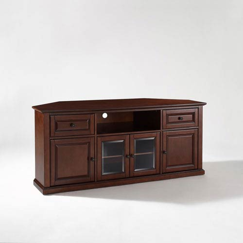 Crosley Furniture 60 Inch Corner Tv Stand In Vintage Mahogany