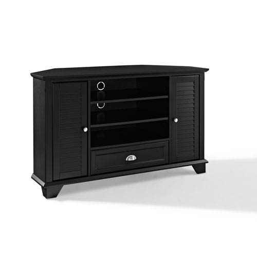 Crosley Furniture Palmetto Black 50 Inch Corner Tv Stand Cf100550 Bk