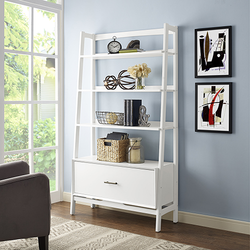 Landon Large Etagere in White