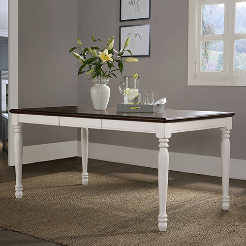 Crosley Furniture Shelby Dining Table in White Finish