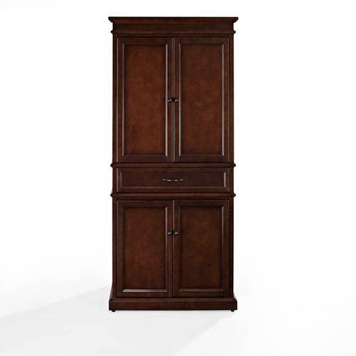 Crosley Furniture Parsons Mahogany Pantry Cf3100 Ma Bellacor