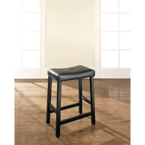 Crosley Furniture Upholstered Saddle Seat Bar Stool In