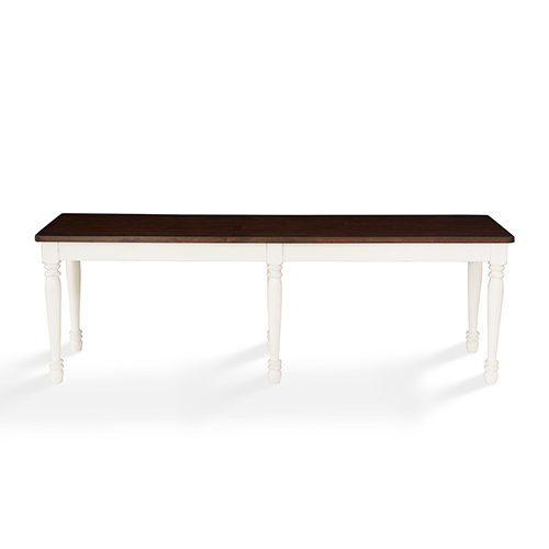 Crosley Furniture Shelby Dining Bench in White