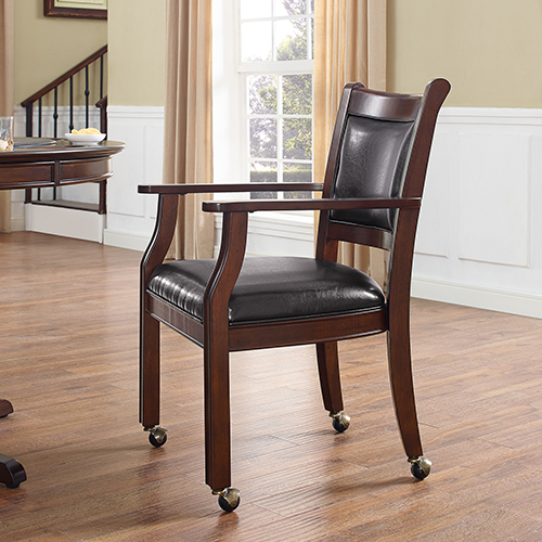 Reynolds Game Chair in Rustic Mahogany