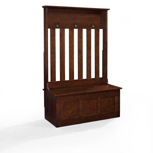 Crosley Furniture Ogden Mahogany Entryway Hall Tree