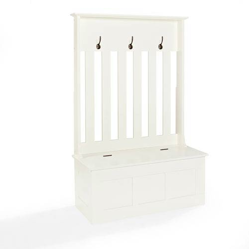 Crosley Furniture Ogden White Entryway Hall Tree