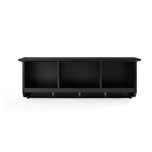 Brennan Black Entryway Storage Shelf