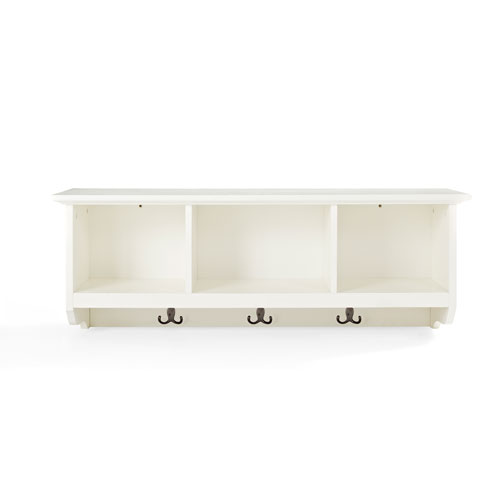 Crosley Furniture Brennan White Entryway Storage Shelf