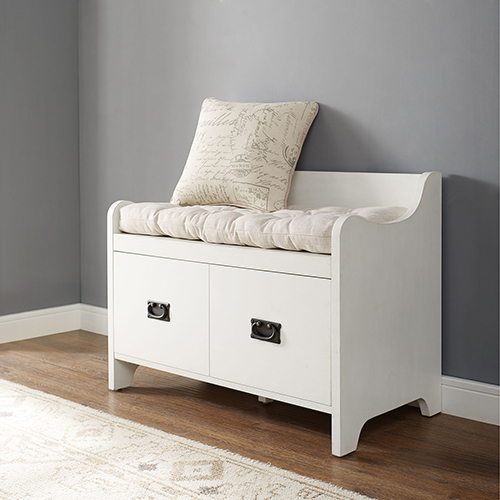 Fremont Entryway Bench in Distressed White
