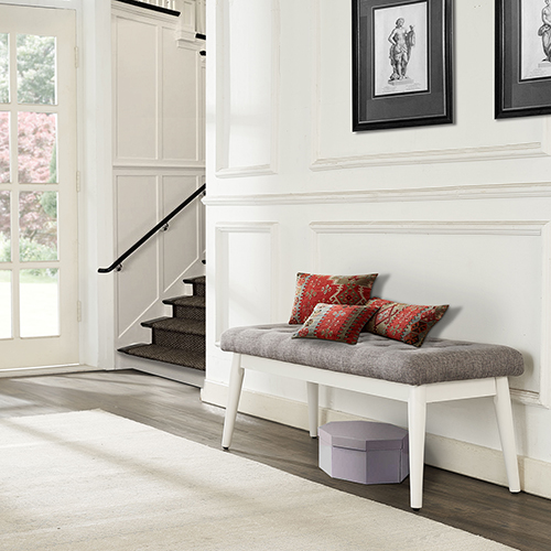 Landon Upholstered Bench in White