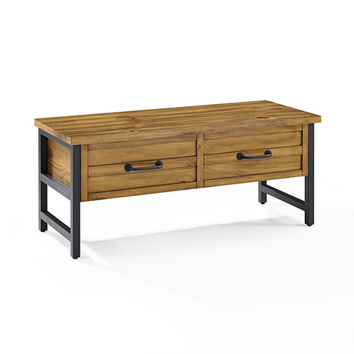 Crosley Furniture Roots Entryway Bench in Natural
