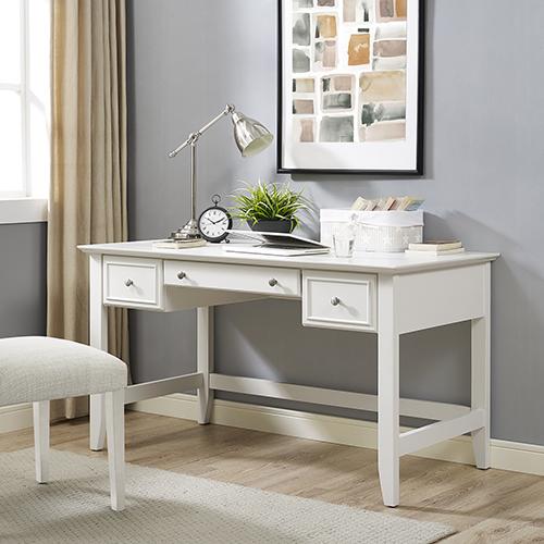 Crosley Furniture Campbell Computer Desk in White