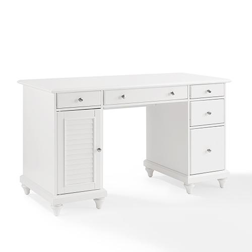Palmetto Computer Desk in White Finish
