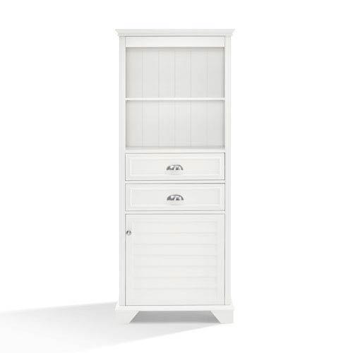 Crosley Furniture Lydia White Tall Cabinet