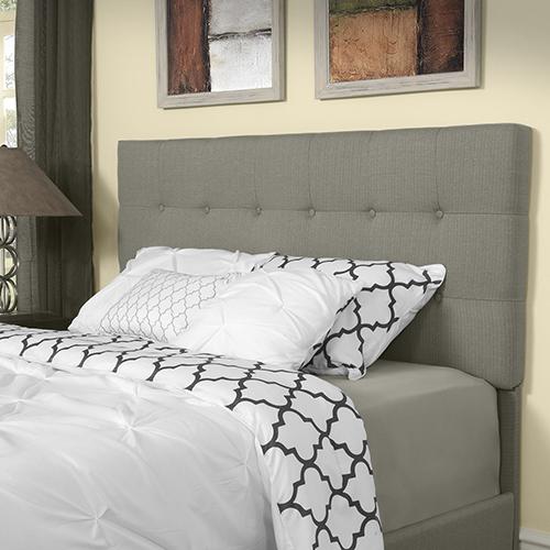 Andover Full or Queen Headboard in Shadow Gray Linen
