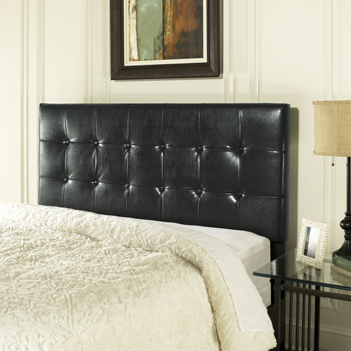 Andover King or Cal King Headboard in Black Leatherette