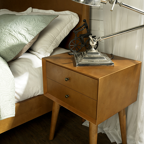 Crosley Furniture Landon Night Stand in Acorn