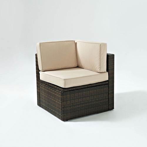 Crosley Furniture Palm Harbor Outdoor Wicker Corner Chair