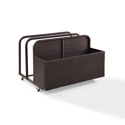 Palm Harbor Brown Outdoor Wicker Float Caddy