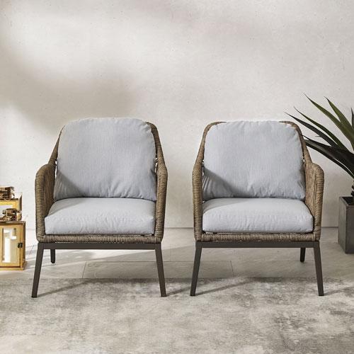 Haven Two-Piece Outdoor Wicker Armchair Set