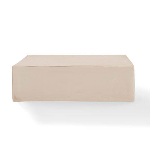 Tan Outdoor Rectangular Table Furniture Cover