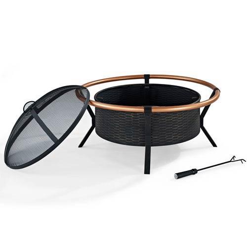 Crosley Furniture Yuma Copper Ring Firepit
