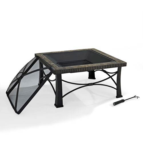 Crosley Furniture Firestone Black Slate Firepit