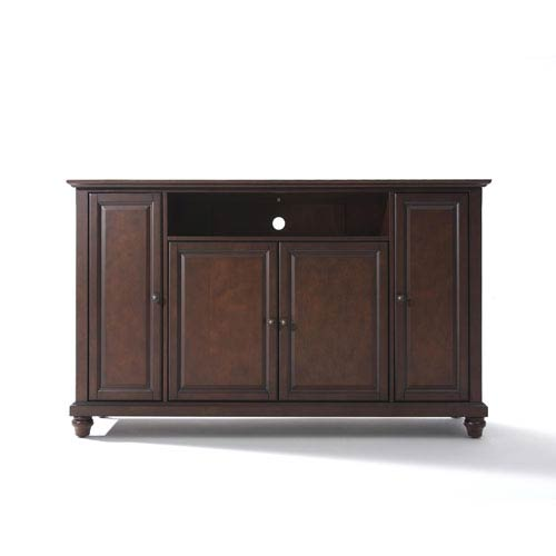 Cambridge 60-Inch TV Stand in Vintage Mahogany Finish