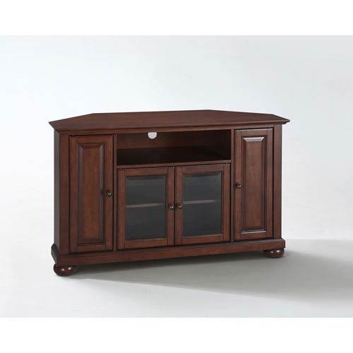 alexandria 48 inch corner tv stand in vintage mahogany finish - Tv Stands Corner