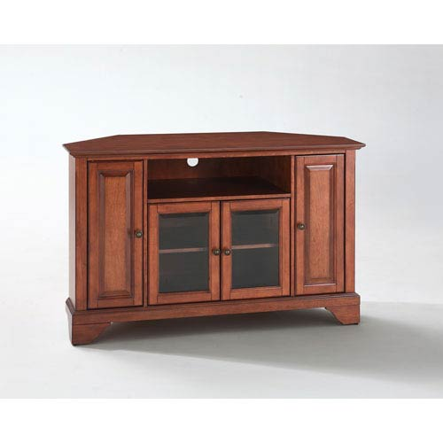 LaFayette 48-Inch Corner TV Stand in Classic Cherry Finish