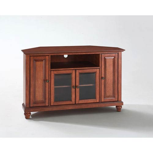 Cambridge 48-Inch Corner TV Stand in Classic Cherry Finish
