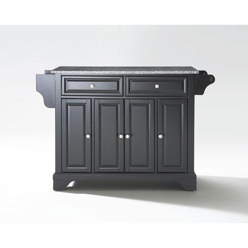 Crosley Furniture LaFayette Solid Granite Top Kitchen Island in Black Finish