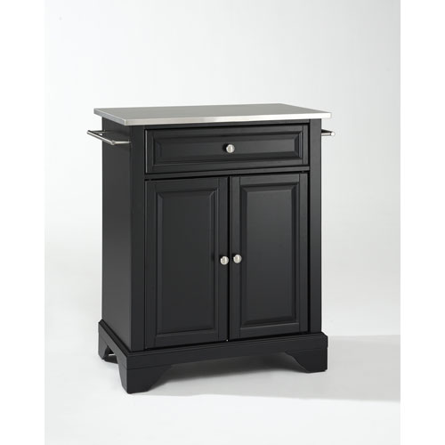 Go Home Black Industrial Kitchen Cart At Lowes Com: Kitchen Islands & Carts, Large Stainless Steel Portable